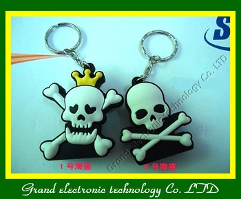 Retail Skeleton head usb flash drive 2gb 4gb 8gb 16gb usb drive 1pcs/lot Free Shipping