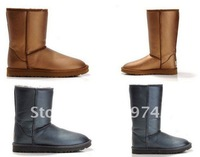 Free shipping #5842 #5812 Women's Luxury Waterproof Boots,New arrival fashion winter warm flat heels solid snow boots  gray