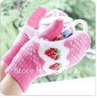 Fashion Knit Skin care Fingerless arm Mitten Long Sleeve Gloves,Free shipping