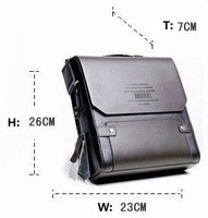 Promotional! Leather Men's Messenger Bags, Men's leather shoulder bag,leather men bag+Free Shipping
