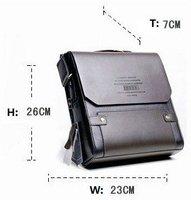 Promotional! Leather Men's Messenger Bags, Men's leather shoulder bag,leather men bag+Free Shipping