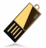 Wholesale NEW GOLD MINI Genuine 2GB 4GB 8GB 16GB 32GB USB 2.0 Memory Stick Flash Pen Drive, F3 free shipping