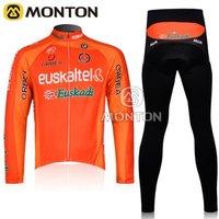 Hot!!Promotion,NEW Cheap 2011 Euskalkel Team Thermal Fleece Cycling Wear Long Sleeve Set ,Winter Jersey Cycling,Winter Jersey
