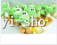"Wholesale- High Quality 100pcs / lots Soft Plush Super Mario Bros Yoshi Plush Anime 4"" Cos Figure Plush figures"