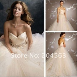 Free Shipping Sweetheart Wedding Dress custom size&color(China (Mainland))