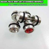 144pcs Dumb Bell 316L Statinless Steel Earring Fashion Ear Stud Fake Ear Expander Men's Ear Ring Fashion Body Jewelrry
