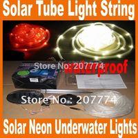 2014 New 100LED 12M 38ft solar tube light string waterproof/ solar neon Underwater Lights / Christmas Festival Free Shipping