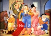 Free Shipping ,Museum Quality , Art Oil Paintings Reproductions On Canvas,Fernando Botero - corrida