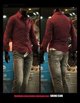 Free Shipping New Mens Shirts Casual Slim Fit Stylish Mens Dress Shirts