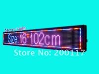 Free/FAST shipping,led display,16*128pixels,led dot matrix,RED,BLUE,PINK COLOR,remoter choosing,led manufacturer,easy to operate