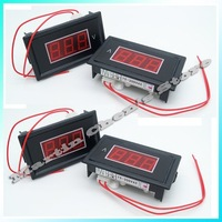 Free shipping 5pcs/lot Wholesale Brand New Red Digital Voltmeter AC 75V to 300V LED Digital Panel Meter AC220V Voltage RED