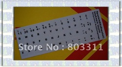 Free shipping +50pcs/Lot SP languange(Spanish) Laptop keyboard sticker, SP Laptop keyboard cover(China (Mainland))