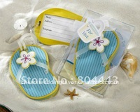 Factory directly sale 10pcs/LOT Flip-Flop Luggage Tag Favor wedding favor gift