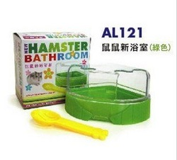Big size Hamster bathing room 4colours, hamster products, hamster shower products,fan shape hamster bath room(China (Mainland))