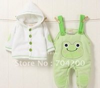 6 sets/lot-Frog Animal  Baby Clothing se for winter/kids wear