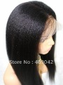Free shipping ,20inch Kinky yaki In stock fashion 100% Indian remy hair  ,best quality full lace wig