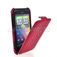 CROCODILE SKIN FLIP HARD BACK CASE COVER FOR HTC INCREDIBLE S G11 FREE SHIPPING