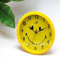 Simple smiley face round wall clock Retail or Wholesale High quality! Free Shipping / hot sales