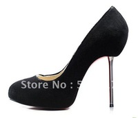 New style brand women's shoes real suede leather Women's high heel pumps shoes