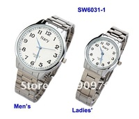 Fashion Nary Quartz Wristwatch Men&#39;s &amp; Women&#39;s Watch Water Resistant Stainless Steel Watch 2colors Mixed SW6031 12pcs lot