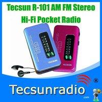 Retail-Wholesal Tecsun R-101 AM FM Stereo Hi-Fi  mini  dab radio