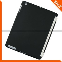 Black TPU Case Work With Smart Cover For Apple IPAD 2 2nd Free shipping
