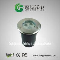 Guaranteed 100% Free Shipping IP67 12~24V 3x1w led underground light 3 years warranty
