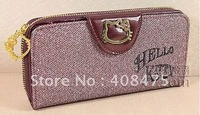 Wholesale New Fashion Hello Kitty wallet,PU bag,purese,coin case-0029