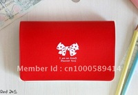 Free Shipping  Romantic bow 12-bit card pack, Card Holder, Admission package, Bank card package, 40g 200pcs/lot