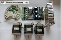 3 Axis NEMA23 185oz-in Wantai Stepper Motor  CNC Router Stepping motor Driver Board Free Shipping to USA, Germany