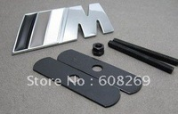 freeshipping!  20pcs/lot black AC-SCHNITZER M LOGO Car Badge CAR EMBLEM 3D Chrome Badges with glue sticker 140X30MM