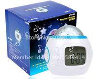 Free Shipping  Music Star Projection Clock, Colorful Alarm Clock, Music Alarm Clock, 160g 20pcs/lot