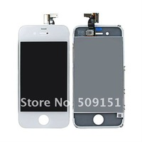 White LCD Display Touch Screen and Touch Glass Digitizer Assembly For iPhone 4 4G, Free Shipping