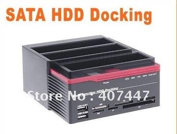 "2.5/3.5"" 3x SATA HDD Dock Docking Station Clone USB HUB  Multifunction HDD Docking"