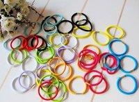 2014 HOT elastic Women and Kids hair rope for hair ring & Color random