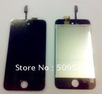 10pcs/lot LCD Screen with Touch Screen Digitizer for iPod Touch 4 4th Gen Assembly Free shipping by DHL