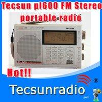 Free Shipping  Retail-WholesaleTecsun pl600 FM Stereo LW MW SW AM SSB pl-600  fm Radio two way radio  clock radio