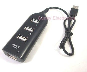 NEW 4 Port Mini USB 2.0 HUB High Speed  PC Slim
