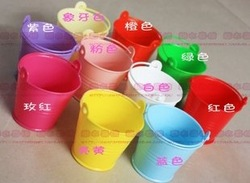 Factory directly sale 50PCS/LOT wedding favor box Colorful beach pail which made of PP plastic used as candy packing(China (Mainland))