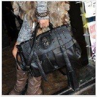Classic skeleton head handbags,Studded leather bag,Ladies skull bag hot sale,wholesale/retail!Free Shipping!OWB061