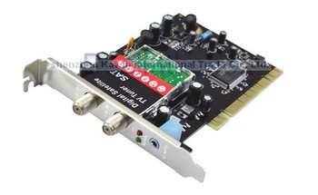 Wholesale Free Shipping 5 Pieces/Lot New DVB-S Satellite TV Tuner Video Capture PCI Card+ Remote