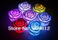Free Shipping  Hot Selling LED Colorful Night Light, Romantic Colorful Rose Light Electronics 100pcs/lot