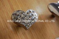 D36mmxH20mm Free shipping crystal glass zinc alloy cabinet knob/crystal furniture knob