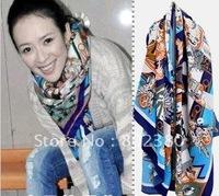 free shipping High quality Fashion big towel. Mystery trace myths manual edge silk.scarf.