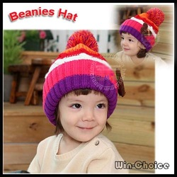 Wholesale 20pcs/lot Xmas Acrylic Beanies Babies/ Crochet Hats/ Skull Caps with top ball decor -Fast and Free Shipping(China (Mainland))