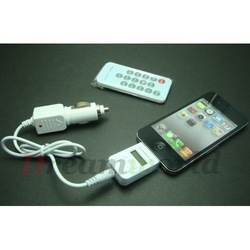 Wireless FM Transmitter+Car Adapter Charger for iPhone/iPod ,Free Shipping by DHL-20pcs(China (Mainland))