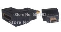HDMI cable Extend Adapter Converter, Mini HDMI female to Micro HDMI male, 10PCS/lot, HD 1080P,
