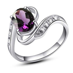 Free Shipping 925 Sterling Silver Rings,Genuine Natural Amethyst Ring, Wholesale Fashion Jewelry Hot Sale J0608104agz(China (Mainland))