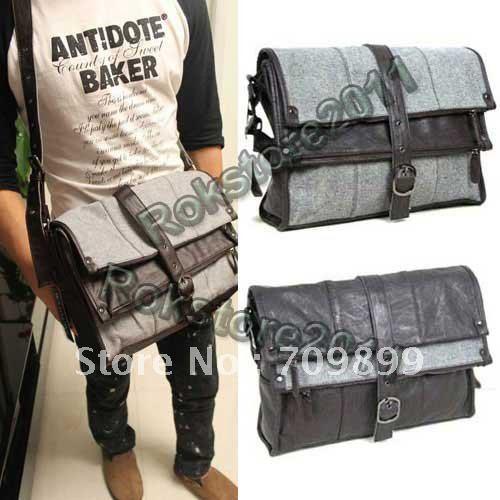 Authentic Moonar Men'S Leather Shoulder Messenger Briefcase Bag Bookbag 35
