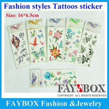 Size:16cmX6.5cm, 100pcs/lot,Temporary Tattoos ,Fashion Waterproof Body Tattoo Sticker paper ,Nontoxic ,high quality!